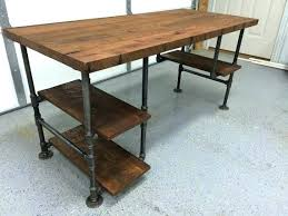 galvanized pipe furniture pipe desk legs for home design rustic reclaimed  barn wood computer table w
