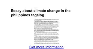 essay about climate change in the tagalog google docs