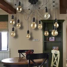 nordic chandelier loft antique 12 heads diy e27 art spider ceiling lamp light