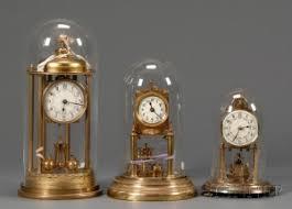 torsion clock. three german 400-day torsion pendulum clocks clock
