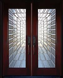 exterior front entry double wood door