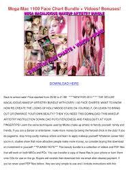 Face Charts For Sale Mega Mac 1100 Face Chart Bundle Videos Bonuse By Keturah