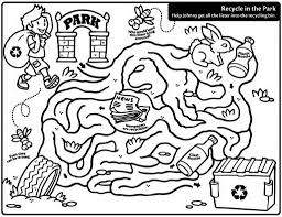 City Hutchinson Kansas Recycling Coloring Pages
