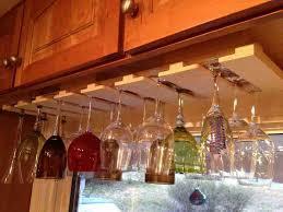 12 under cabinet wine glass rack photos