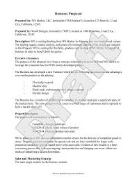 Business Proposal Template Unique Sample Business Proposal Example Proposal Form Inside How To Write