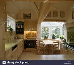 Kitchen Alcove Oven In Lighted Alcove In Country Kitchen With Circular Wooden