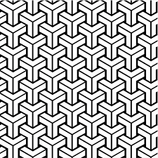 free vintage coloring book pages  retro patterns geometric design