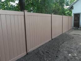 fence construction. custom color 6u0027 ft by 8u0027 vinyl fence construction