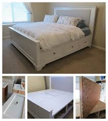 creative diy king size bed with diy beds plans 6