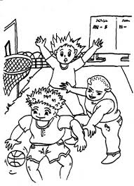Basketballen Kleurplaten