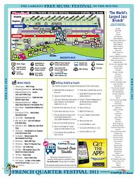 french quarter festival  map  offbeat magazine