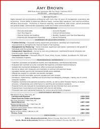 Inspirational Accountant Resume Sample Pdf Mailing Format