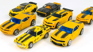 What car does bumblebee transform into? Transformers Movie 1 2 3 4 5 Deluxe Class Bumblebee Camaro Vehicles Car Robot Toys Youtube