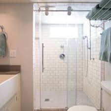 subway tile walk in shower. Modren Subway Transitional Bathroom Featuring Glass Shower With Subway Tile On Walk In B