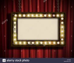 Marquee Sign With Lights Marquee Lights Border Stock Photos Marquee Lights Border