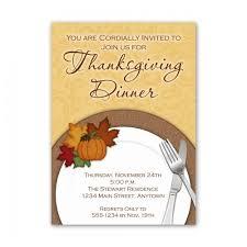 Custom Thanksgiving Invitation Dinner Plate Design You Print