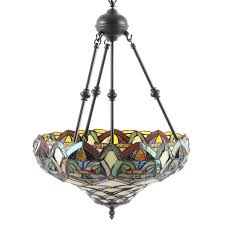 tiffany style stained glass chandelier ebth tiffany style stained glass chandelier antique stained glass chandeliers for