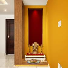 Pooja Area Design Niche Converted To Stylish Pooja Corner Pooja Room Design