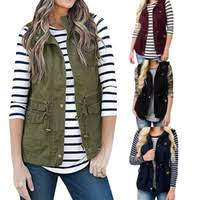 Wholesale Waistcoat Army Green Women for Resale - Group Buy ...