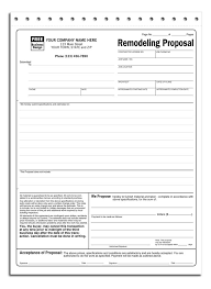 contractor forms templates free contractor proposal forms templates best photos of contractors
