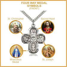four way medal catholic symbols