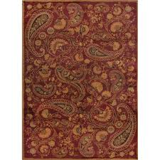 home dynamix paisley red 8 ft x 10 ft indoor area rug