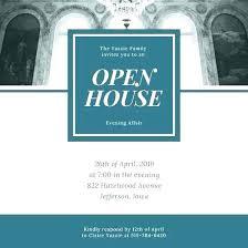 Open House Invite Templates Download Invitation Free Sample
