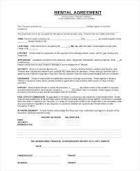 8 Apartment Rental Contract Samples Sample Templates Basic Apartment ...