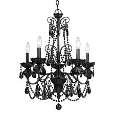 af lighting mischief 5 light black traditional candle chandelier