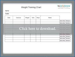 Staff Training Flowchart Template Weight Workout Charts ...