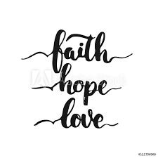 Fotografie Obraz Ručně Malovaná Typografie Nápisy Fráze Víra Naděje