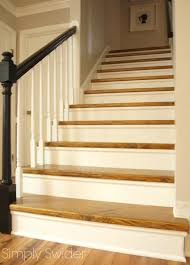 Carpet To Hardwood Stairs Carpet To Wood Stair Makeover Reveal Simply Swider