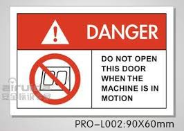 100pcs 90 60mm do not open this door when the machine is in motion adhesive