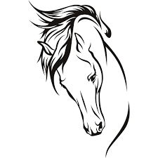 Best Free Clip Art Horse Head Gallery For Free Horse Line Drawing Clip Art