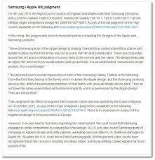 uk apology to samsung backfires as apple sets the record straight 2 samsung apple uk judgment