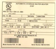 Us Craftmaster Water Heater Age Chart February 2018 Purposenation Club