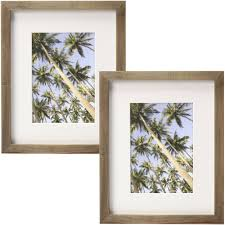 better homes and gardens gallery 8 x 10 20 32 cm x 25 4 cm matted to 5 x 7 12 7 cm x 17 78 cm solid wood picture frame natural rustic set of 2