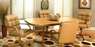 U Dining Table With Caster Chairs Kitchen Rolling Topic  Related To Sets