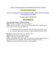 Check spelling or type a new query. Law 531 Week 3 Learning Team Reflection Irac Brief 2 Papers By Marvel72 Issuu