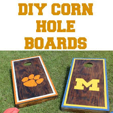 Wooden Corn Hole Game Football Friday DIY Corn Hole Game The Happier Homemaker 98