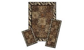 capri 3 piece rug set safari