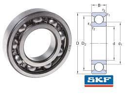 6314 C3 Skf Open Deep Groove Ball Bearing 70x150x35mm Skf