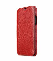 melkco premium leather case for apple iphone x face cover book type red lc