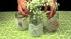 Glass Jar Table Decorations How to Decorate Mason Jars for a Wedding YouTube 63