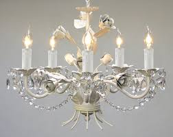 wrought iron fl chandelier crystal flower chandeliers lighting h14 w17 com