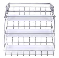 Rubbermaid Coated Wire In Cabinet Spice Rack Fascinating Amazon Rubbermaid Pull Down Spice Rack Clear 32 Kitchen