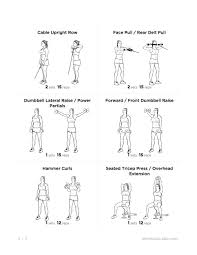 arm workout routine no equipment routines list then workouts to do cozy