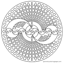 Free Printable Coloring Sheets For Adults Geometric Figures And