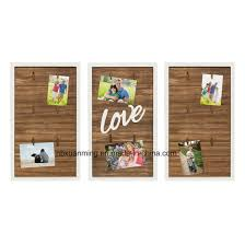 love wood 3 piece clip photo collage photo frame picture frame wall decor home decoration wooden wall plaque