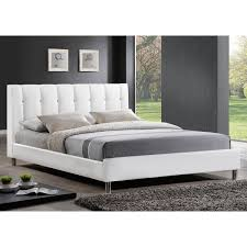 white queen size headboard. Contemporary White Baxton Studio Vino White Modern Bed With Upholstered Headboard  Queen Size Inside R